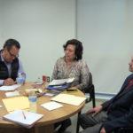 Carlos Vera de SEGOB, Yolanda Legorreta Carranza y David Terán de ANUIES.