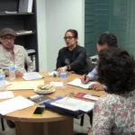 Benjamín García y Rosy Laura Castellanos de CULTURADH, Carlos Vera de SEGOB y Yolanda Legorreta de ANUIES