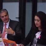 Juan Antonio López de SEGOB y Rosy Laura Castellanos de CULTURADH